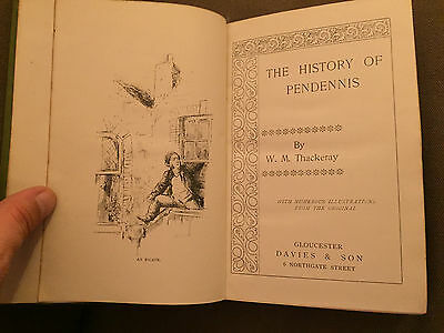 """*Very Rare* Printed In Gloucester """"History Of Pendennis"""" Thackeray Hardback Book"""