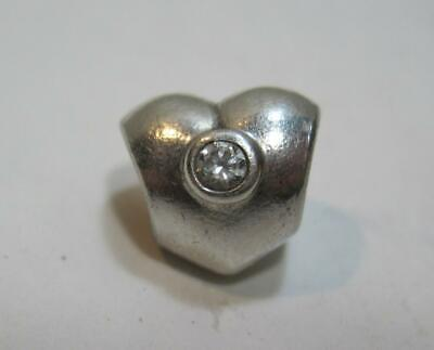 Authentic Pandora ALE 925 Sterling Silver Clear CZ Heart Charm