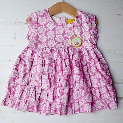 *BNWT* Girls JOULES Frilled Summer Sleeveless Top RRP £29 Pink Floral Holiday 8