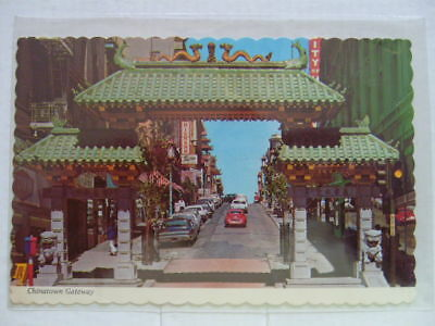 San Francisco Chinatown Gateway to the Orient circa 1980 Postcard