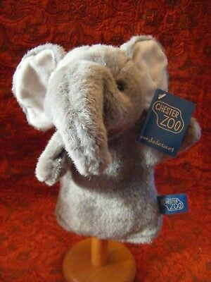 """Chester Zoo Elephant Puppet 10""""  Approx With Tag Vgc"""
