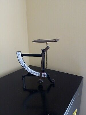 Old Post office cast iron & enamel oversize 1 scale very rare!