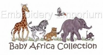 Baby Africa Collection - Machine Embroidery Designs On Cd Or Usb