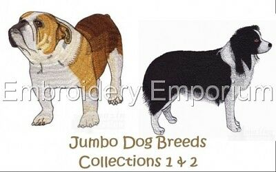 *Offer*Jumbo Dog Breed Collections 1&2 M/C Embroidery Designs On 2 Cds Or 1Usb