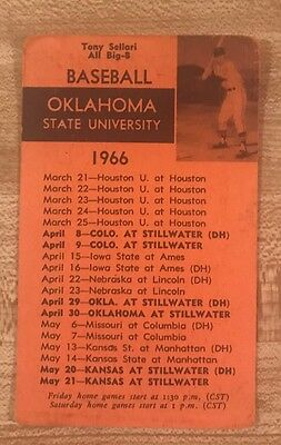 1966 Oklahoma State University Baseball Schedule