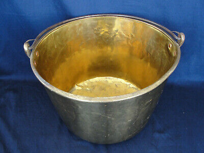 Vintage Brass and Wrought Iron Bucket Pail