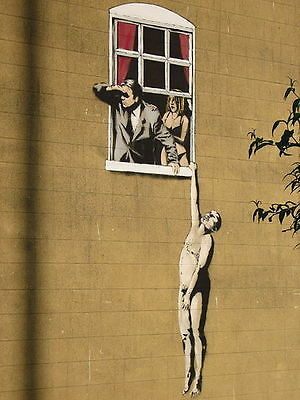 Banksy graffiti Street Art cheating Lovers Giclee 16 x 20 Canvas Print Venne