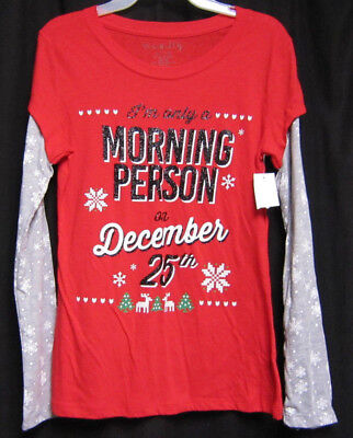 JH030 Funny Christmas I AM ONLY A MORNING PERSON ON DECEMBER 25th SWEATSHIRT