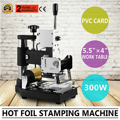 Hot Foil Stamping Machine Paper Leather For Id Pvc Cards Stainless Steel Newest