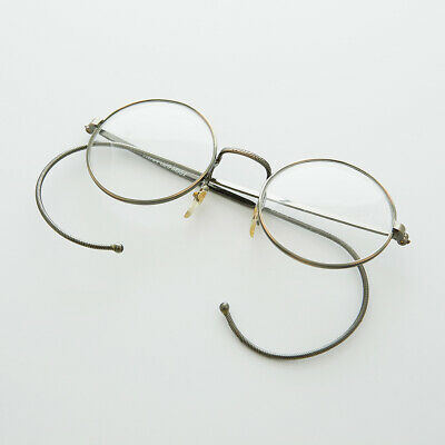 Round Lennon Small Spectacle Vintage Glasses w/ Cable Temples Bronze - LG Rudy