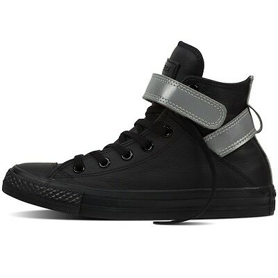 Women's CONVERSE All Star BLACK LEATHER HIGH TOP Trainers Boots SIZE UK 4