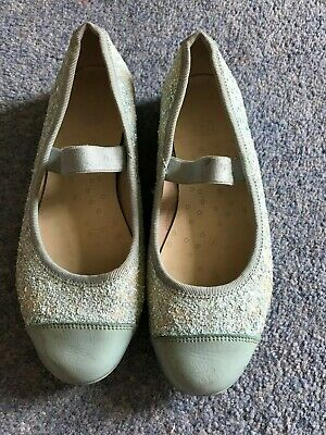 853cf50fb30 Girls party shoes (clarks - size 12.5) blue and sparkly