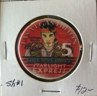 Las Vegas Hilton Starlight Express Commemorative $5 Casino Chip, Circa 1997