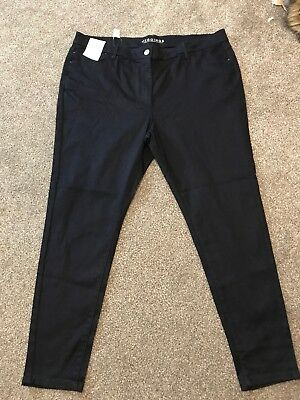 M/&S High Rise Pale Blue Skinny Jeggings  Size 14 Regular BNWT Free Sameday P/&p