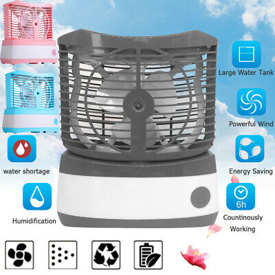 Mini Portable USB Rechargeable Home Car Air Conditioner Air Cooler Humidifier