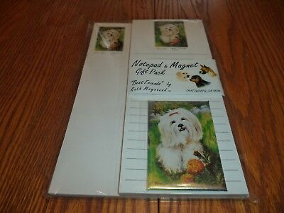 New Alaskan Malemute Magnetic Refrigerator List Pad /& Magnet By Ruth # ALM-6