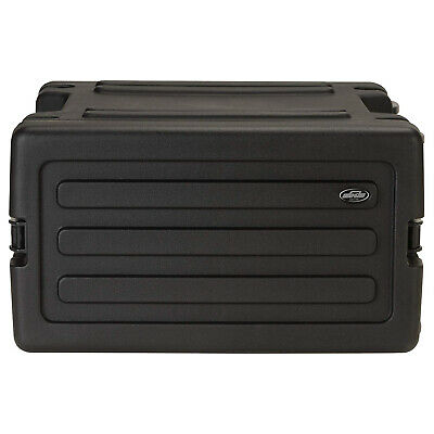 SKB 1SKB-R6W - 6U Space Rack with In-line Wheels, TSA Latches, and Handle
