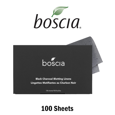 BOSCIA Black Charcoal Blotting Linens From, Authentic Free Shipping (100 Sheets)