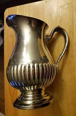 Vintage Newport Silverplate Water Pitcher YB600 with Ice Lip
