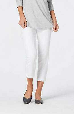 The Limited, womens white capris CROPPED PANTS button pockets, stretchy NEW