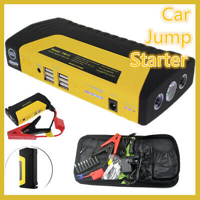 Car Jump Starter Power Bank Adapter Charger 12V 2 USB Ports for Car/Phone/Laptop