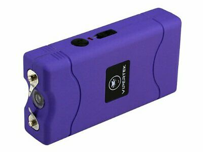 Vipertek Vts-880 ~ 5 Billion Mini Stun Gun-Purple+Rechargeable+Flashlight ~ New