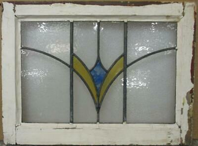 "OLD ENGLISH LEADED STAINED GLASS WINDOW Pretty Burst Design 22"" x 16.5"""