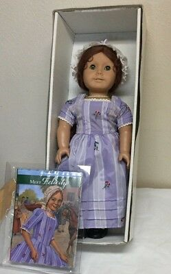 "American Girl FELICITY 18"" Doll Pleasant Company IN BOX w/ Meet Dress and book"
