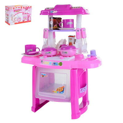 Portable Electronic Children Kids Kitchen Cooking Girl Toy Cooker Play Set