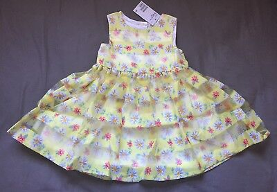 4fb3543c6 Baby Girl 12-18 Month H&M Yellow Floral Print Easter Tiered Dress