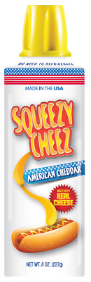 American Cheddar Squeezy Cheez Can - CHEESE IN A CAN - USA
