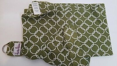 Hooter Hiders Baby Green~White Print Cotton Nursing Cover Bebe Au Lait