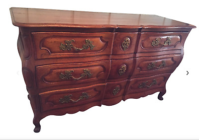 Antique French Country Triple Chest of Drawers Dresser Commode 1920's