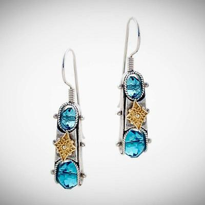S197 ~ Sterling Silver & Swarovski Medieval Drop Earrings