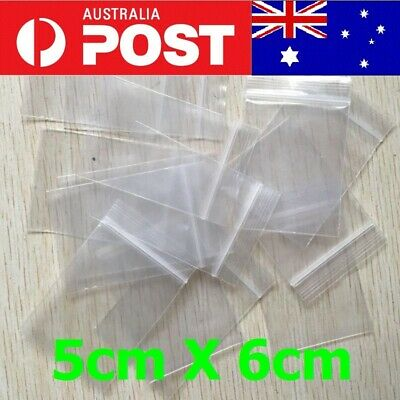 5-200pc AU Zip Lock Plastic Bags Reclosable Resealable Zipper 5X6cm (Thick)