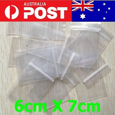 5pcs-200pcs AU Zip Lock Plastic Bags Reclosable Resealable Zipper 6cmX7cm Thick