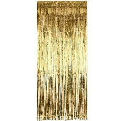 5 x GOLD Foil Door Shimmer Curtain - Party Decoration (1m x 2m) Curtains