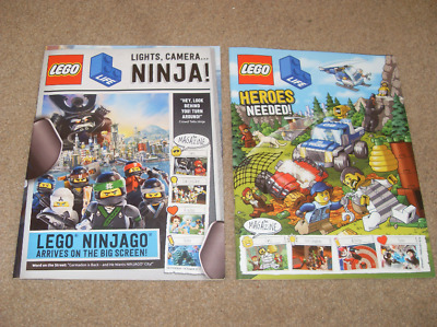 Lego Life Magazines X2 From 2017 To 2018 NEW