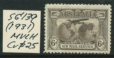 AUSTRALIA - 1931 KINGSFORD SMITH  6d 'BROWN'  SG139 MVLH Cv $25  [6426]