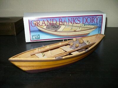 AM Inc. USA Fischerboot Holzschiff Schiff Boot Modell Grand Banks Dory Ornament