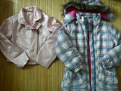 NICE AUTUMN SPRING faux leather HOOD BUNDLE GIRL JACKETS 6/8 YRS (0.8)