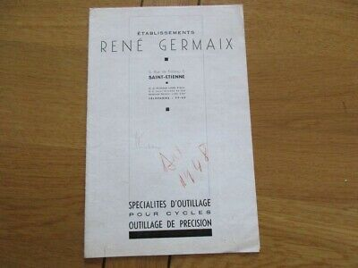Catalogue Outillage Velo Cycles Rene Germaix  1948 Precision St Etienne