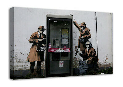 Banksy Oxygen Tree Canvas Wall Art Picture Print Ready To Hang