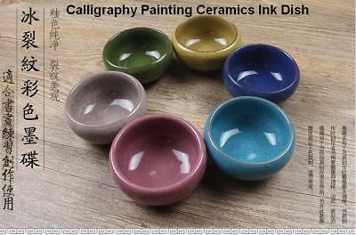 3 PCS Chinese Japanese Calligraphy Painting Tool Ceramics Water Ink Dish Plate