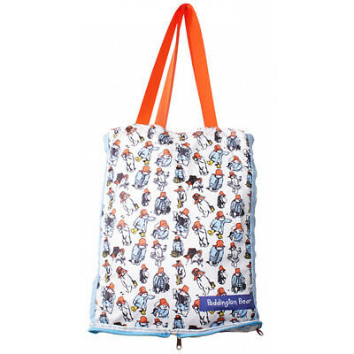 Paddington Bear Classic Pattern Foldaway Shopper Bag