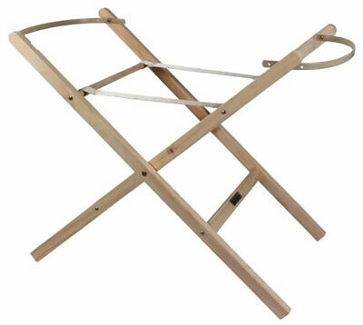 Brand new in box Clair de lune wooden folding moses basket stand in natural