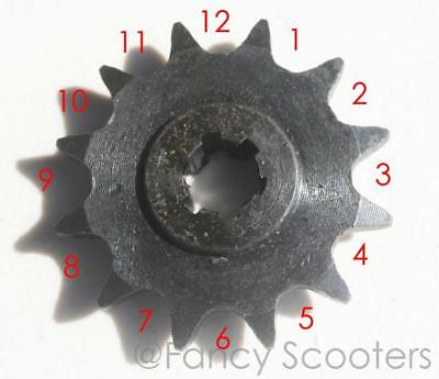 """#41 Pitch Front Drive Sprocket Gear X 12 Teeth 1/2"""" X 1/4"""" Chain Scooter,Go Kart"""
