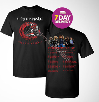 Whitesnake 2019 Flesh and Blood World Concert Tour t shirt S to 3XL