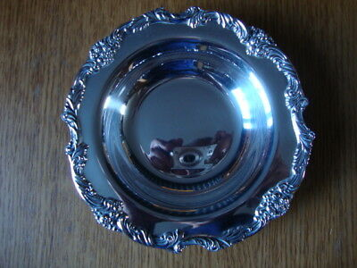 A Beautiful Ornate Vintage Heavy Silver Plated Dish
