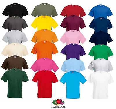 T-Shirt Uomo Fruit Of The Loom- Valueweight-61036-Maglietta Manica Corta Cotone